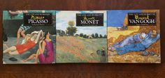 Lot of 3 ART HISTORY Books PAINTING PICASSO VAN GOGH MONET Life & Times ARTIST