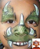 Dinosaurs - Gerepind door www.gezinspiratie.nl #schminkspiratie #schmink #kids