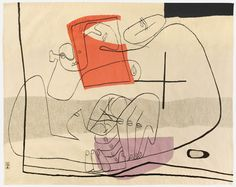 """black-hands: """" Les Mains (1951). Tapestry by Le Corbusier. Found here. """""""