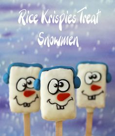 Hungry Happenings: Silly Snowman Rice Krispies Treats will Warm Your Heart This Winter