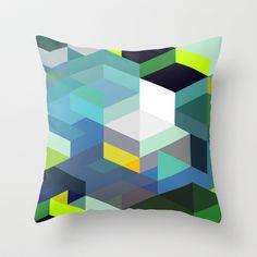 Blue Diamonds Throw Pillow by House of Jennifer - $20.00