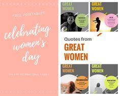 Free Printable sharing wisdom from Great Women