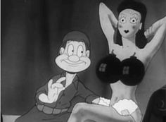 private snafu - bombs boobs - pin up - old cartoon