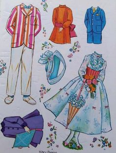 Mary Poppins Paper Dolls : Clothes 1