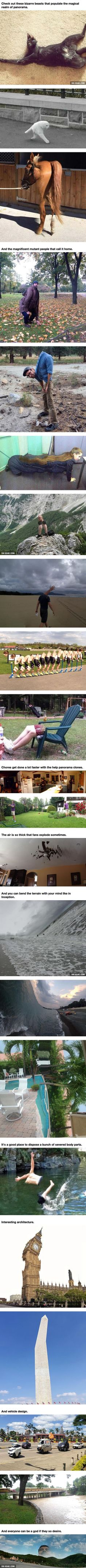 Failed Panorama Photography Turns The World Into A Creepy But Interesting Place