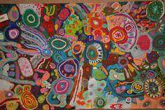 Circle painting -- 2nd grade