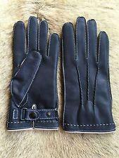 Winter Lederhandschuhe Herren Navy Blau Größe 7.5 8 8.5 9 9.5 10
