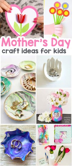 Wonderful Mother's Day Crafts for Kids - the best ideas for cards, keepsakes and art projects #craftsforkids #mothersday #mothersdaycrafts