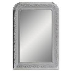 Weathered Wooden Round Framed Mirror 30 Inch Diameter
