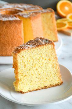 Lemon Chiffon Cake, Orange Chiffon Cake, Orange Sponge Cake, Oranges And Lemons, Pastry Cake, Cake Flour, Vanilla Cake, Cake Recipes, Pastries