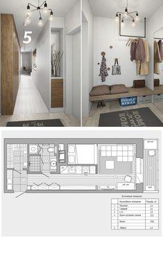 Modern Small Apartment Design, Minimal Apartment, Small Apartment Interior, Small Space Design, Small Spaces, Studio Apartment Plan, Studio Apartment Decorating, Apartment Layout, Small Appartment