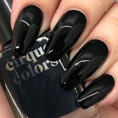 """Nic At Nails on Instagram: """"Last week was a basic white. This week we are going bad bitch black with an amazing ONE COAT! I love that even if I hold my phone flash…"""" Hold Me, Memento Mori, Phone, Nails, Coat, Amazing, Black, Instagram, Finger Nails"""