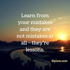 Learn from your mistakes. The path of recovery is essentially helping you do just that.