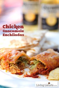 Chicken Guacamole Enchiladas