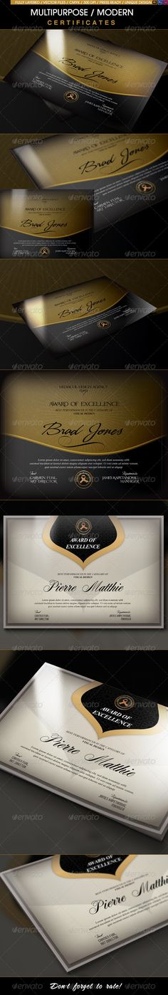 A Great Deal! / Multipurpose Modern Certificates Template. Download here: http://graphicriver.net/item/a-great-deal-multipurpose-modern-certificates/8632510?ref=ksioks