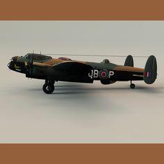 3D 3ds Avro Lancaster Aircraft