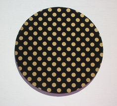 Mouse Pad mousepad / Mat - round - Shiny gold polka dots on black- Computer Accessories Geekery Custom Desk Coworker Gifts Office Gifts