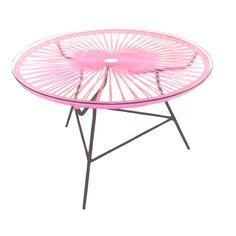 News Lovely Market - Table de jardin Zipolite, rose - Table de jardin pour de longues soirées entre amis...