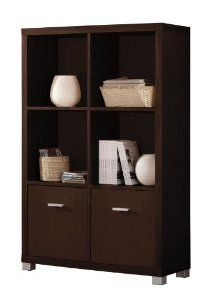 Acme 08306 Carmeno Display Cabinet with 2 Doors, Espresso Finish by ACME. $134.84. Contemporary style and carefree look. Carmeno collection display cabinet with two doors is perfect for your room. Measures 32-inch length by 12-inch width by 48-inch height. Made of hollow, chipboard with polyurethane paper with silver leg. Quality construction for years of enjoyment. Carmeno collection display cabinet with two doors is perfect for your room. Contemporary style and carefree lo...