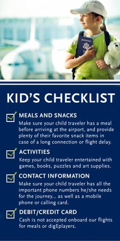 Children Flying Alone - 7 Safety Tips You Must Consider First - EnjoyFamilyTravel Kids Checklist, Fear Of Flying, Safety Tips, Alone, You Must, Entertaining, Activities, Children, Travel