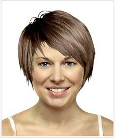 short side-swept hair