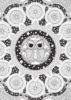 Night Owl Mandala Colour with Me HELLO von HelloAngelCreative