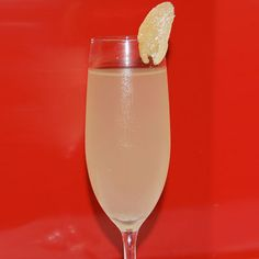 1.5 oz Bacardi limon 1 oz Lillet Champagne Fresh ginger Muddle fresh ginger with Bacardi limon and Lillet, pour into champagne glass.  Top with Champagne and garnish each glass with a piece of crystalized ginger, which can be purchased at a gourmet store.  Created by and served at: Megu, NYC