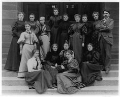 The first LIS class from UIUC. Defining gender stereotypes in librarianship since 1893.