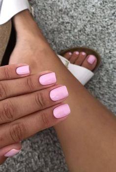 Blush Pink Nails, Purple Nails, Pink Gel Nails, Short Pink Nails, Opi Pink, Winter Nails, Summer Nails, Spring Nails, Milky Nails