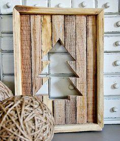 Original Reclaimed Wood Christmas Tree Rustic Cutout
