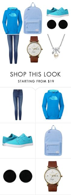 """Без названия #16"" by arxangel ❤ liked on Polyvore featuring Frame Denim, The North Face, DC Shoes, Herschel Supply Co., AeraVida, Triwa and MBLife.com"