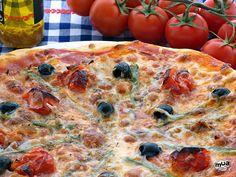Pizza casera - http://riconoricote.com/pastas-y-pizzas/pizza-casera/