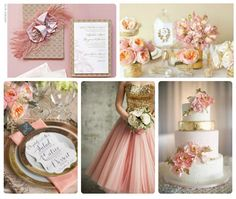 Fanciful & Frilly pink and gold wedding theme. volusiacountyweddings/ www.callaraesfloralevents.com