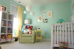 Chambre d\'enfant jaune et bleu | Nursery, Kids rooms and Room