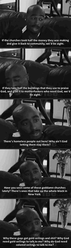 So true how can you preach to help others and gods word when you have people dieing in the streets and you could of given them a roof over there head for no cost....