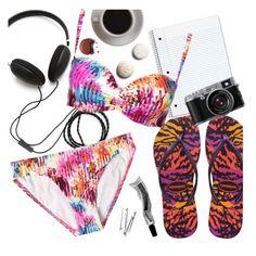 """Summer Sandals Under $50"" by sanddollardubai ❤ liked on Polyvore featuring Molami, Havaianas, Sunseeker and Bunn"