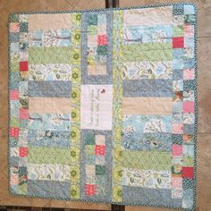 Back of gender neutral baby quilt.  Could work as top of quilt.