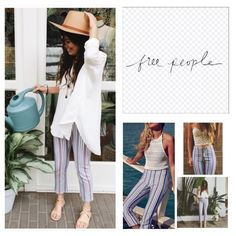 "Free People Stripe Linen Blend Crop Pants.  NWT. Free People Stripe Linen Blend Cropped Pants, 55% linen, 42% cotton, 3% spandex, washable, 31"" waist, 11.5"" front rise, 17"" back rise, 26.5"" inseam, 15"" leg opening all around, high waist, banded flat waist, concealed side zip closure, measurements are approx.  No Trades... Free People Pants Ankle & Cropped"
