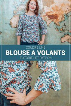 Blouse à volants - Patron gratuit | Sophie Blossom