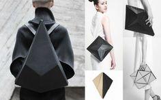 mode origami mode futuriste mode inspiration tendance 2017 sac à dos origami géométrie minimaliste