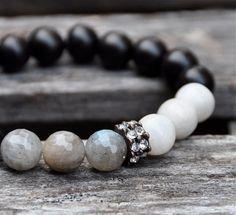 Rustic Gemstone Beaded Bracelets / Beaded Bracelets by BeadRustic