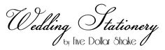 New Bespoke Wedding Stationery website online NOW. www.fivedollarshakeweddings.com/