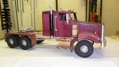 purpleheart tractor - by LarryN @ LumberJocks.com ~ woodworking community