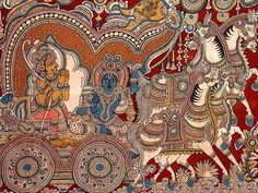 Indian Painting Styles...Kalamkari Paintings (Andhra Pradesh)-gitaupadesa9.jpg