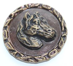 Old Metal Picture Button  Large by KPHoppe on Etsy