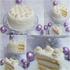 Aleda konyhája: Raffaello torta Sweet Cakes, Cake Cookies, Vanilla Cake, Coconut, Easter, Sweets, Cooking, Recipes, Food