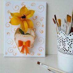 quadro 3D   composizione floreale   narciso giallo in