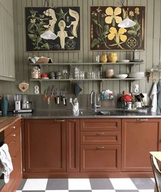 Home Decor Living Room .Home Decor Living Room Eclectic Kitchen, Home Decor Kitchen, Rustic Kitchen, Kitchen Interior, Home Kitchens, Kitchen Dining, Kitchen Cabinets, Creation Deco, Minimalist Home Interior