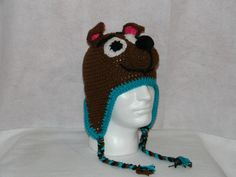 Scooby Doo inspired hat - free crochet pattern by Janell Leary / Nell's Needlecraft. Crochet For Kids, Free Crochet, Crochet Crafts, Crochet Projects, Costume Wigs, Costumes, All About Puppies, Diaper Covers, Dog Harness