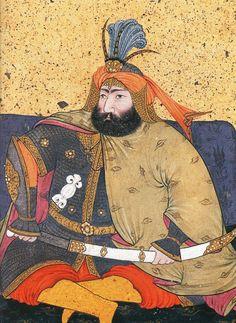 Ottoman Sultan Murad IV, shown wearing a hauberk and bazubands (mail shirt and arm guards). Murad Iv, Sultan Ottoman, Ottoman Turks, Islamic Paintings, Exotic Art, Turkish Art, Historical Art, Ottoman Empire, Portrait Art